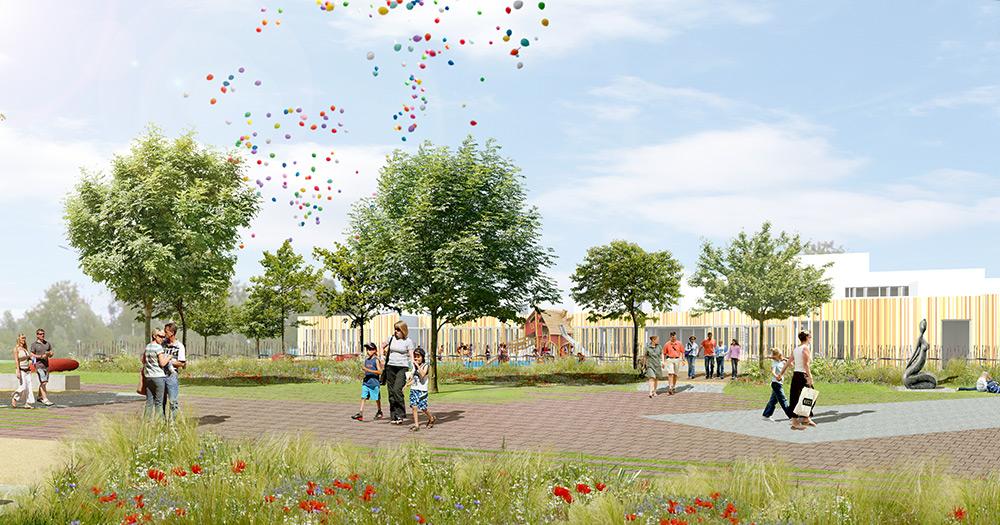 Lingolsheim place publique gallois curie atelier de for Architecte paysagiste alsace