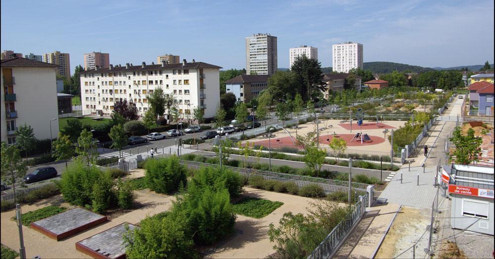 Belfort lotissement baudin gallois curie atelier de for Architecte paysagiste alsace