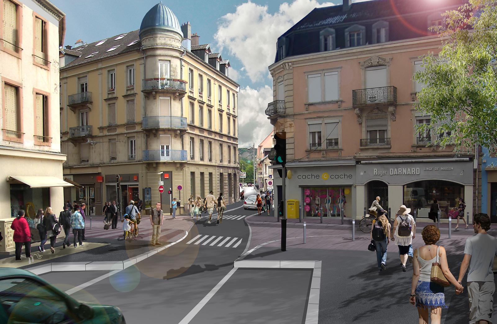 Belfort faubourg de france gallois curie atelier de for Architectes de france