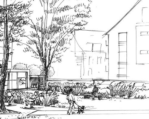 Erstein maison de la solidarit gallois curie atelier for Architecte paysagiste alsace