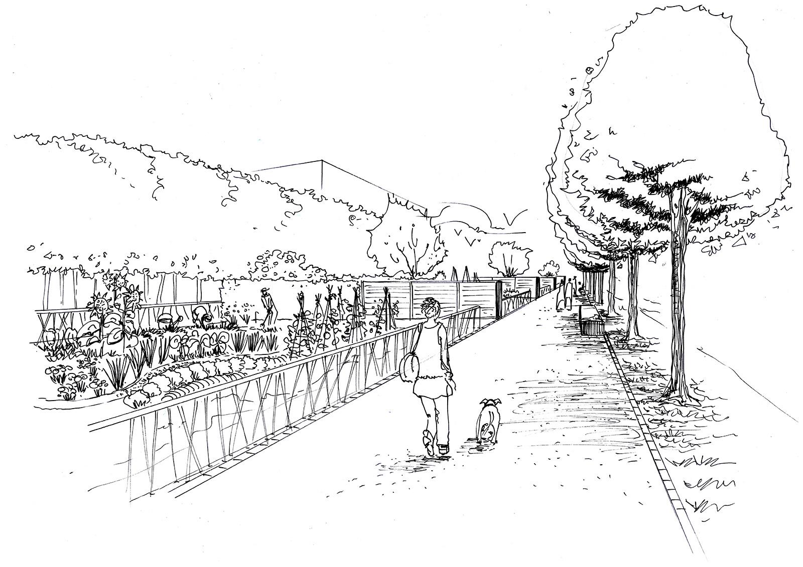 20170912235351 dessin de jardin japonais for Croquis jardin
