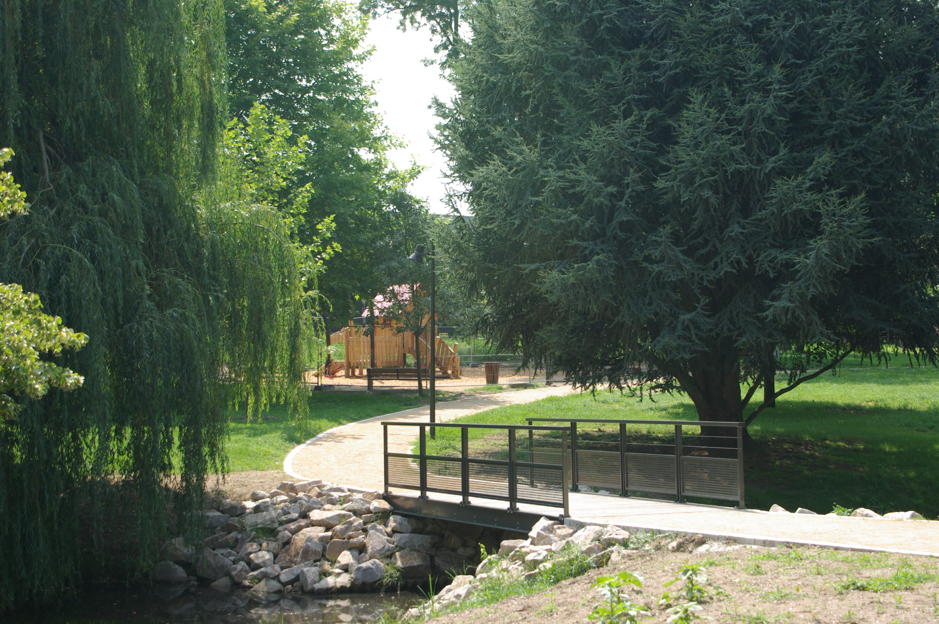 Bischwiller trame verte gallois curie atelier de for Architecte paysagiste alsace