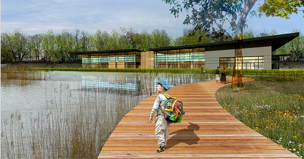 Selestat piscine quai albrecht gallois curie atelier for Paysagiste selestat