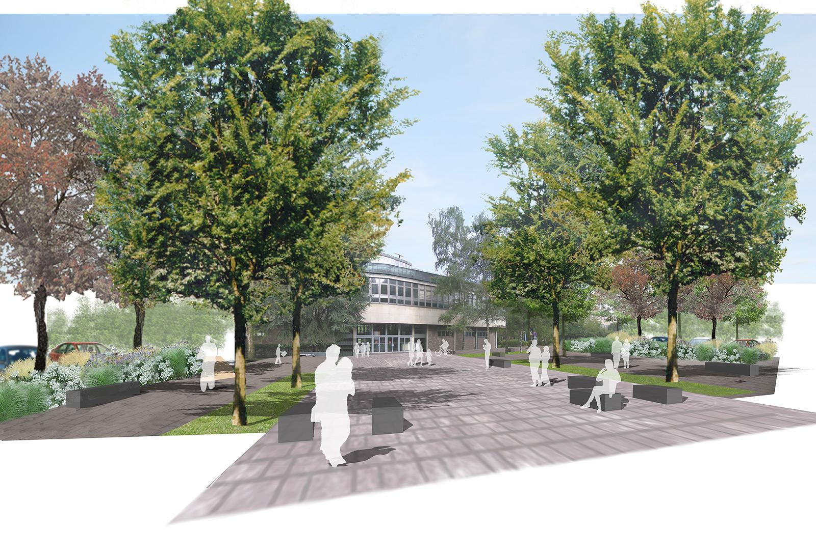Strasbourg esplanade campus gallois curie atelier de for Architecte paysagiste alsace