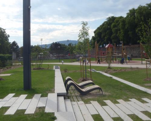 Parcs squares gallois curie atelier de paysage architectes paysagistes en alsace for Paysagiste selestat
